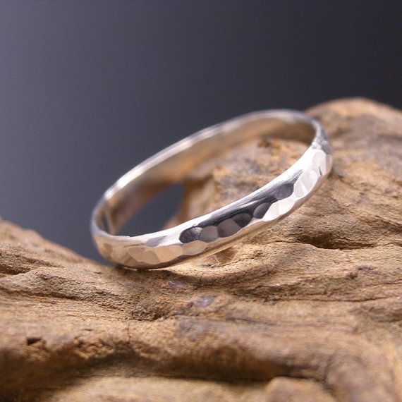 $31.56 Day 25 This handmade sterling silver thumb ring is stylish and trendy! Hand forged from solid sterling silver 3 mm wide half round wire and given a hammered