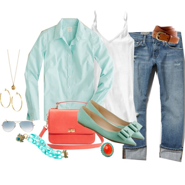 Teal and coral: Fashion Fave, Outfits, Colors Combos, Poppies Turquoi, Fashion Design, Colors Combinations, Design Schools, Teal Turquoise, Polyvore Fashion