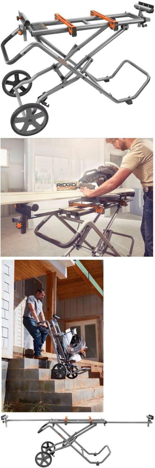 ridgid miter saw table. tools: ridgid miter saw stand mounting braces upright folding design portable wheels -\u003e buy table