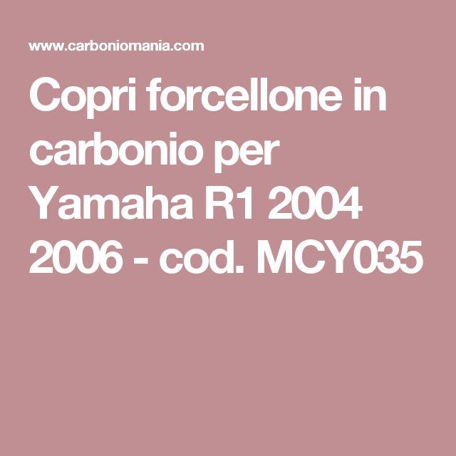 Copri forcellone in carbonio per Yamaha R1 2004 2006 - cod. MCY035