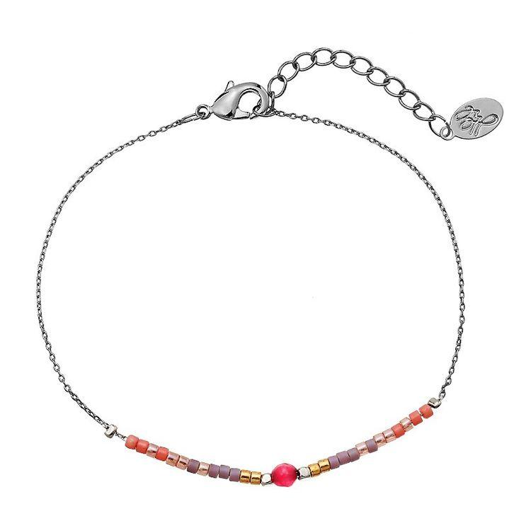 'YehWang' Kralen Armband met roze steentje