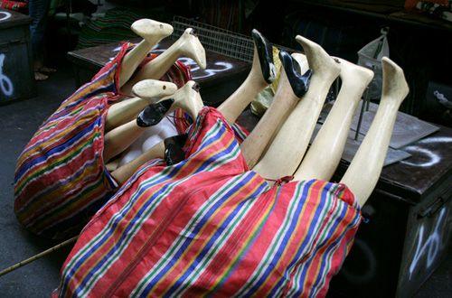 mannequin legs, Patpong in Bangkok