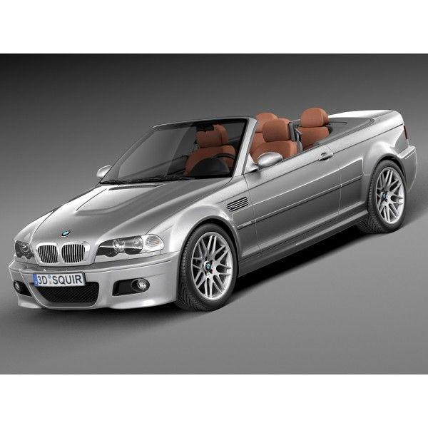 bmw m3 e46 convertible 2000 2004 3d model high quality 3d models vehicles cars trucks. Black Bedroom Furniture Sets. Home Design Ideas