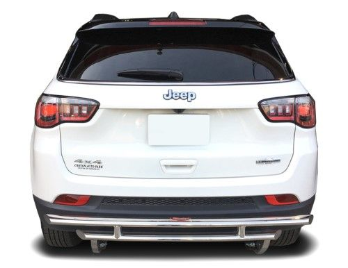 Jeep Compass Rear Bumper Guard Fits 2018 2020 Models Protection Accessories Rdjp 352 55 Polished Silver Jeep Compass Jeep Buick Envision
