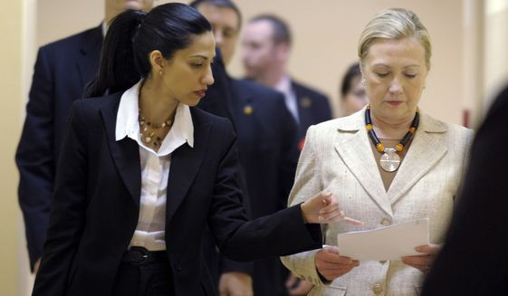 Hillary Clinton signed deal that let Huma Abedin double dip on salaries - Washington Times