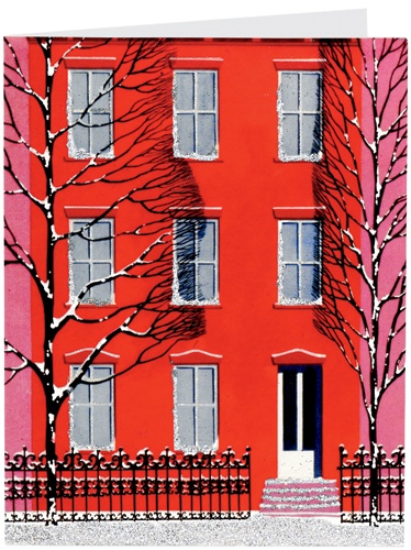 Eyvind Earle - Red Row House Card