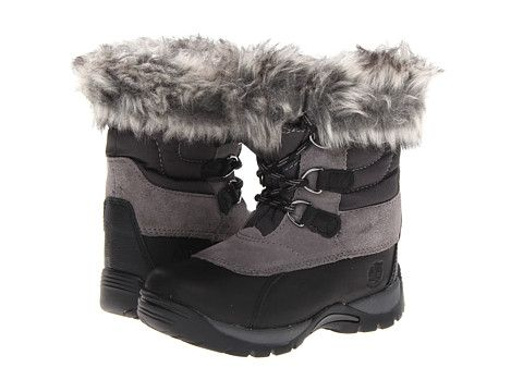 Timberland Kids Blizzard Bliss Waterproof Snow Boot (Toddler/Little Kid) Black With Grey - Zappos.com Free Shipping BOTH Ways