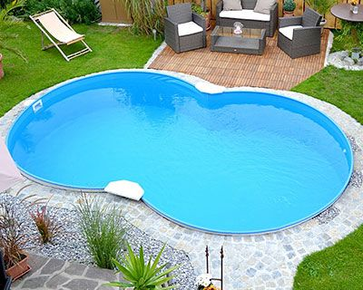 Best 20 stahlwandpool rund ideas on pinterest for Stahlwandbecken oval set