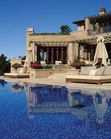 Outdoor Beds and a pool perfect for a hot lazy day like today