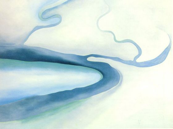 ON SAVING YOUR OWN LIFE: Yes, it's a paradox. You've fallen into the wild knowing... [Image - Georgia O'Keeffe, It was Blue and Green] ... read more at http://thisunlitlight.com/2009/11/19/on-saving-your-own-life/
