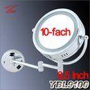 Desktop Kosmetikspiegel 10-fach Vergrößerung rund zweiseitig klappbar 8 Inch YT8100