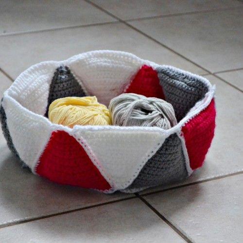 Szydełkowy koszyk