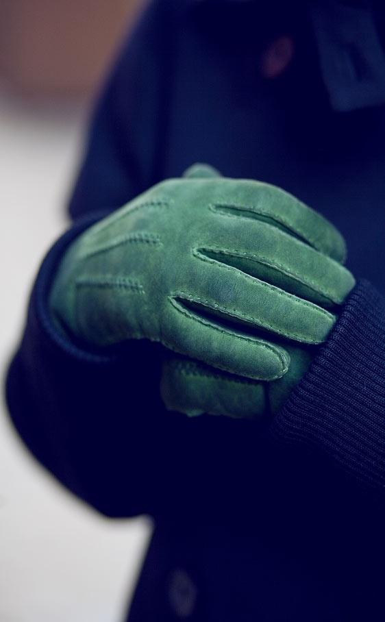 green - gloves