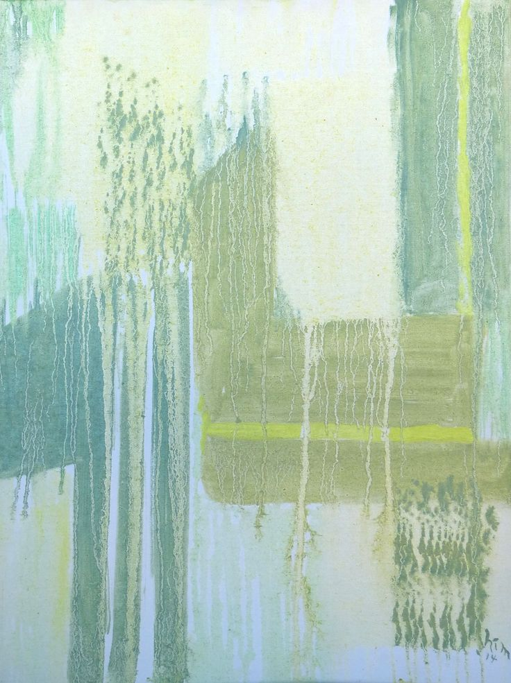 """""""Fusions of Green"""", Oil glazes, 18"""" x 24"""", $300.00"""