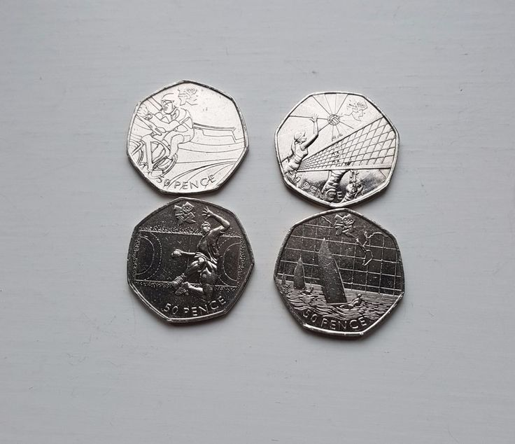 50p coins Fifty pence Olympics  Sailing Handball Volleyball Cycling x 4 Coins £9.25 or Best Offer Ebay Uk Item No 361995946035