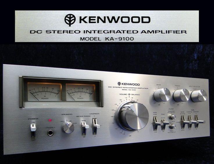 Vintage Amplifier KENWOOD KA-9100 HiFi Verstärker DC Integrated Stereo Amplifier…