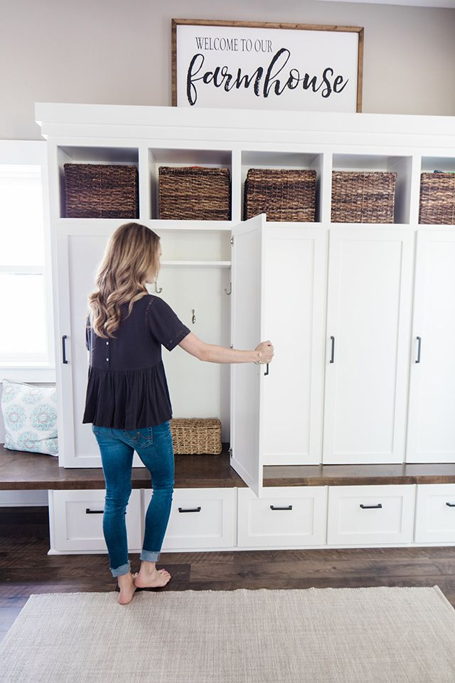 Modern Farmhouse Mudroom, Laundry Room & Powder Bath Reveal
