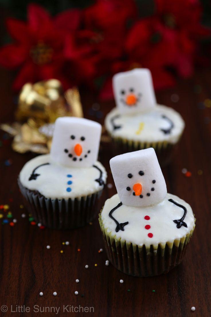 snowmen cupcakes-1                                                                                                                                                                                 More