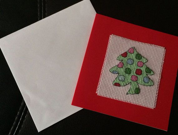 Christmas tree Christmas card by lovewithcards on Etsy, £2.99