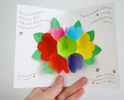 Pop-up kukkakortti / Pop-up flower card