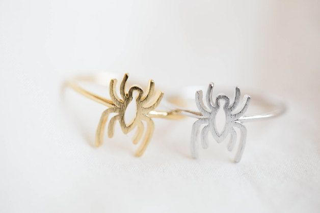 Scary gifts Rings – spider ring,Jewelry,spider jewelry,spider, R287N – a unique product by infinitine on DaWanda