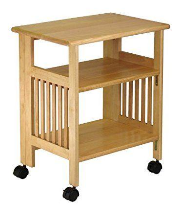 wooden utility cart
