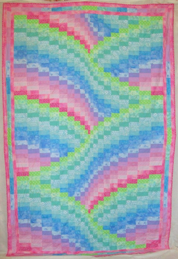 48 best images about quilts bargello twist turn on for Bed quilting designs