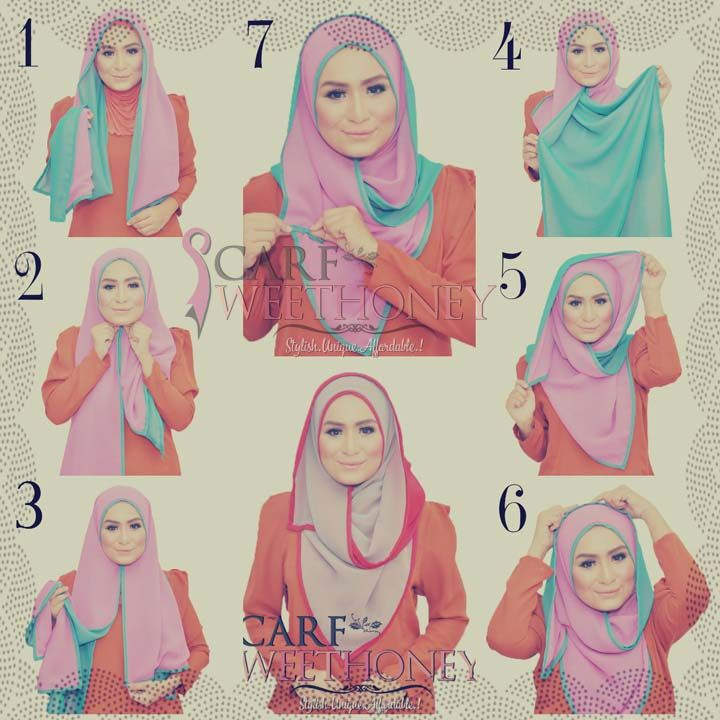 hijab tutorial round face