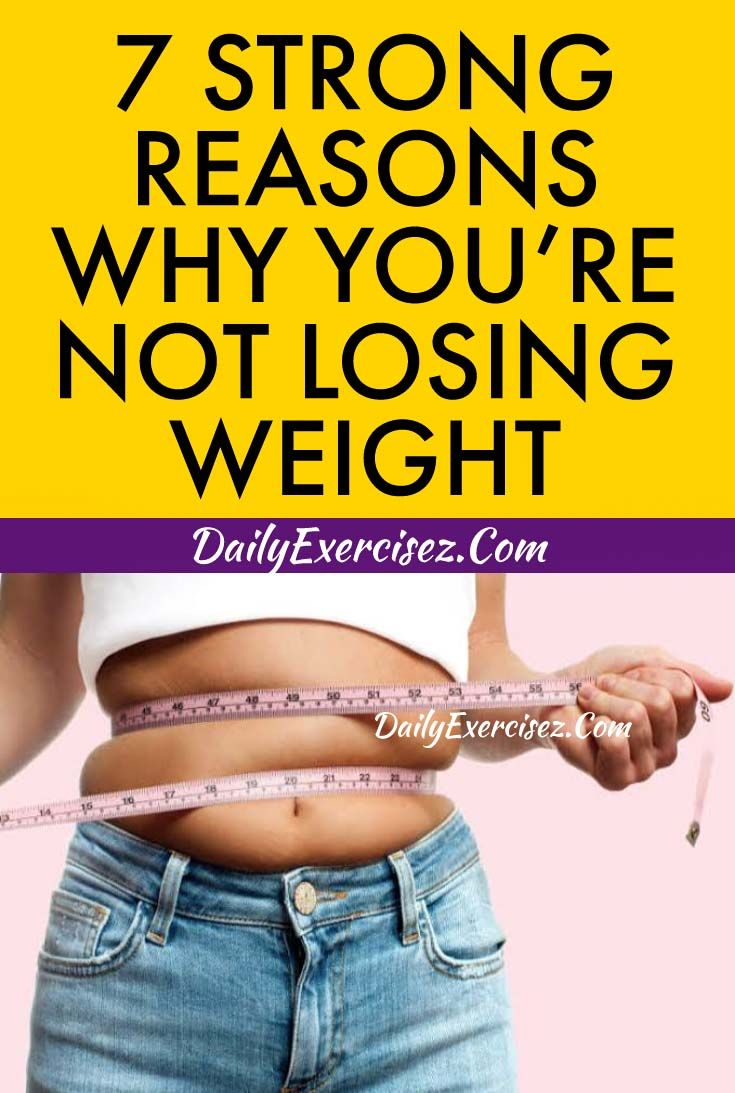 7 Strong Reasons Why You Re Not Losing Weight Fatloss Ectomorph