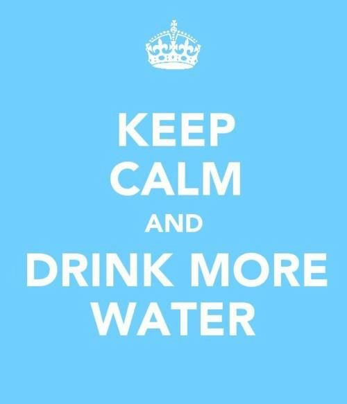 list of readers tips on how to drink more H20... some good advice here!
