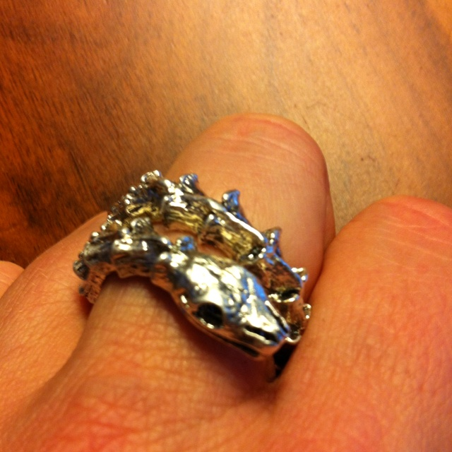 Snake sceleton ring by Björg. My favorite ring, makes any outfit cool!