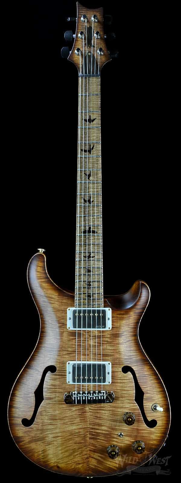 PRS Paul Reed Smith Hollowbody II Private Stock 5674 Natural Satin Koa Smoked Burst