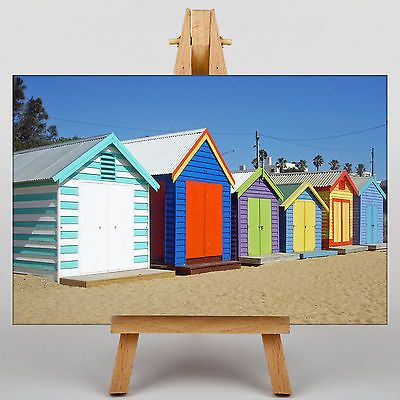 Box framed canvas #print #colourful #beach huts in melbourne australia no.1,  View more on the LINK: 	http://www.zeppy.io/product/gb/2/172115077346/
