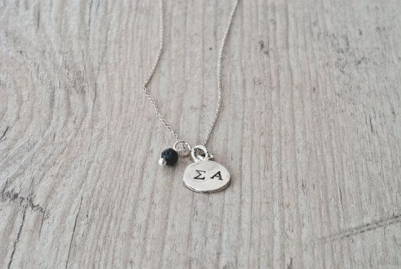 Personalized Initial Necklace Hand Stamped by PiscesAndFishes, €18.00