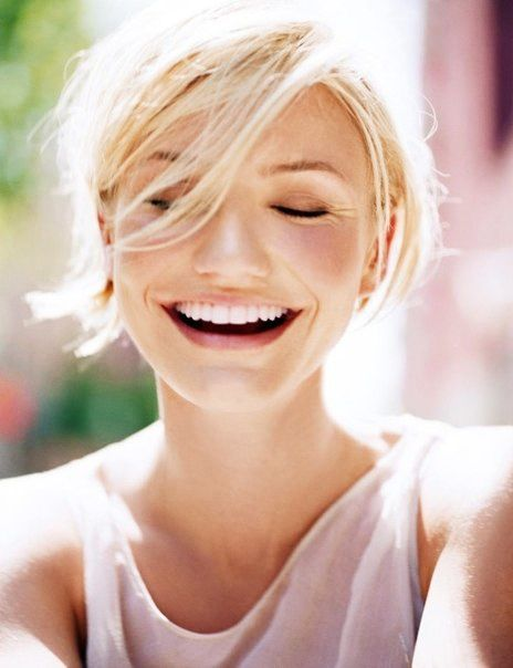 Pretty make-up, flushed, natural, rosey  skyscraperdaydreams:  everlytrue:  [Cameron Diaz, photographer...