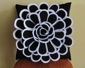 Felt Flower Pillow Pattern SOPHIA FLOWER Fabric by SewYouCanToo