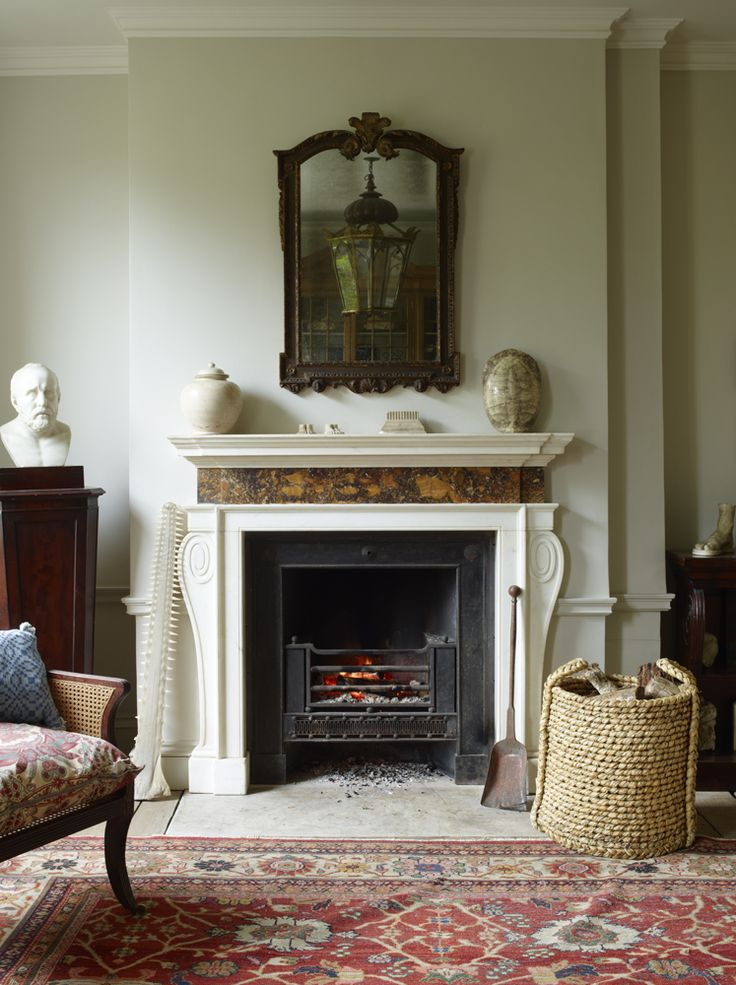 Wonderfully elegant & restrained classic English taste.  The mantel piece is no doubt by Jamb Ltd.