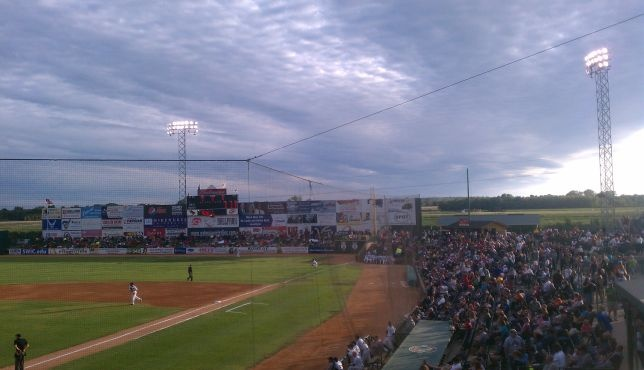 GCS Ballpark - Gateway Grizzlies minor league baseball. Sauget, IL