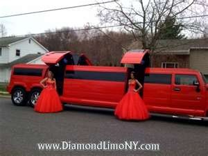 Red Hummer Limo! I would love this for our wedding!! Wedding limos, SUV- transportation for bride groom and wedding party!