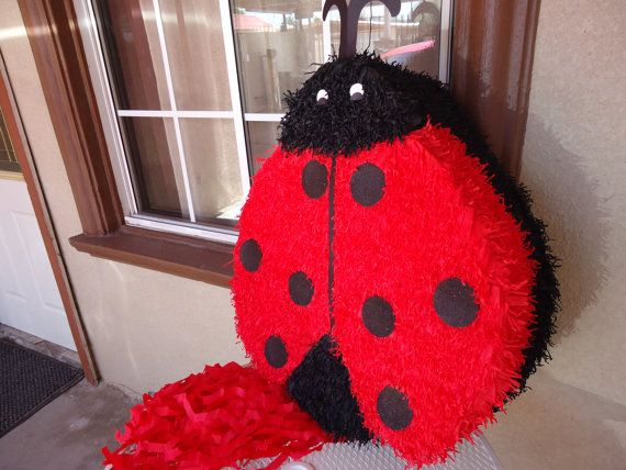 Ladybug Pinata by partylycyous on Etsy, $45.00