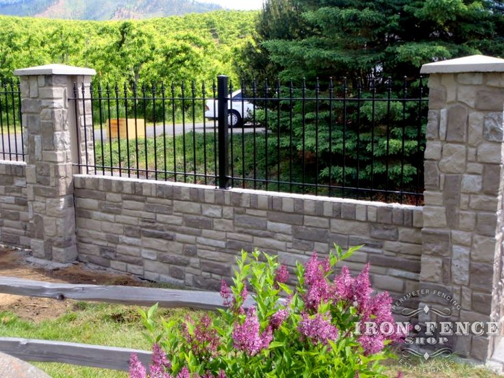 3ft Tall Wrought Iron Fence Installed On An Engineered