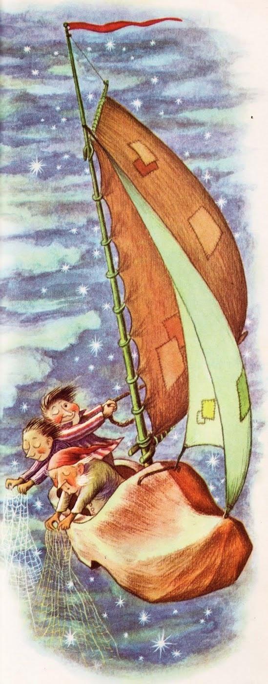 Garth Williams: Winken, Blynken and Nod from Tall Book of Make Believe