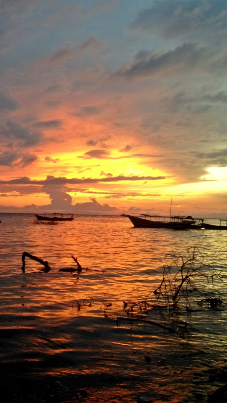 Sunset from our homestay
