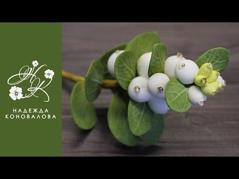 Снежноягодник из фоамирана - мастер-класс - YouTube