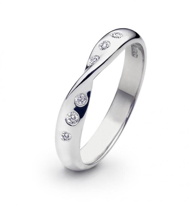 White Gold Diamond Medium Twist Shaped 3mm