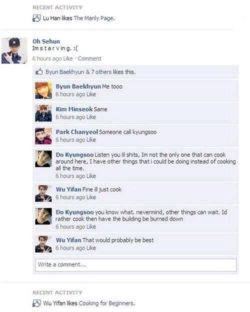Lol but kyungsoo you're such a great chef though