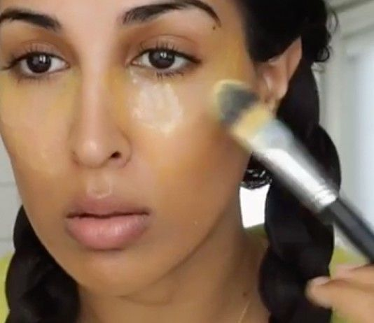 "Millions of Americans deal with dark spots under eyes, whether they're from a lack of sleep, allergies, or irritation. Since those can be tough conditions to get rid of, everyone's looking for a quick fix. Enter: a new DIY trick from beauty blogger Farah Dhukai. ""Buttermilk is naturally jam packed with probiotics and is super rich"