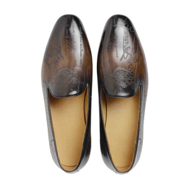 Men 100% Genuine Leather Handmade Retro Italian Loafers
