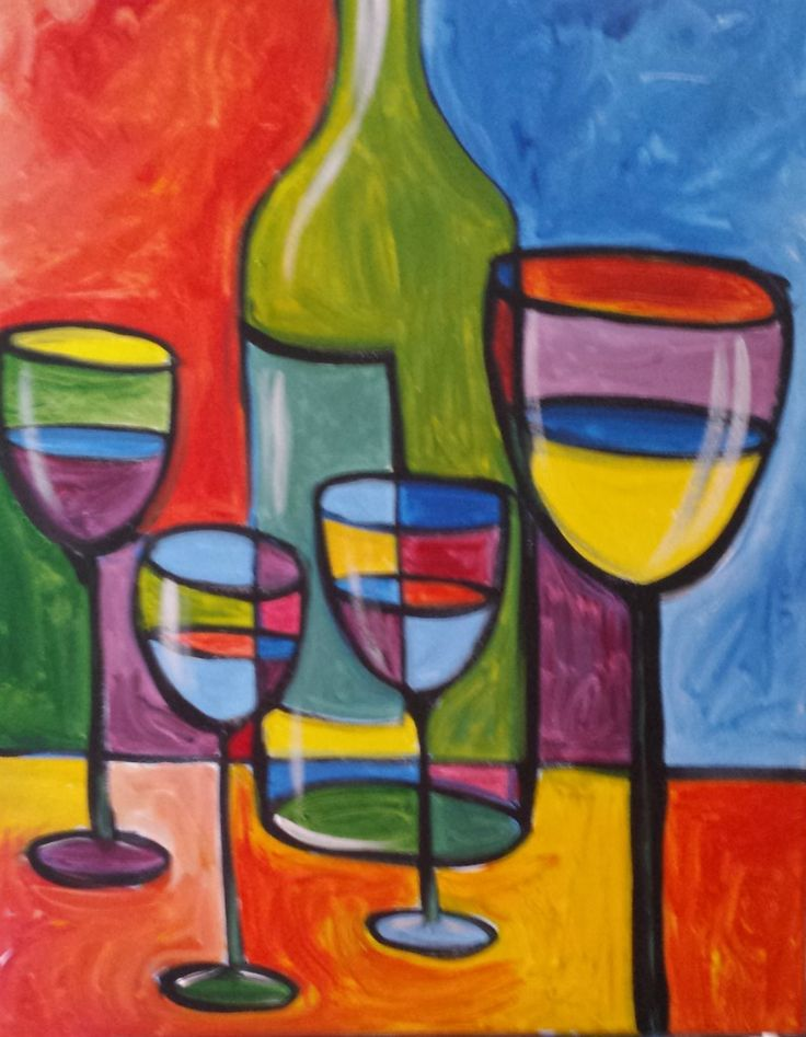 1000 images about step by step acrylic paintings scene for How to paint a wine glass with acrylics