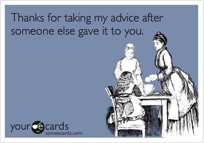 taking advice